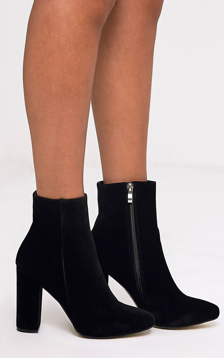 Behati Black Suede Ankle Boots Boots Prettylittlething
