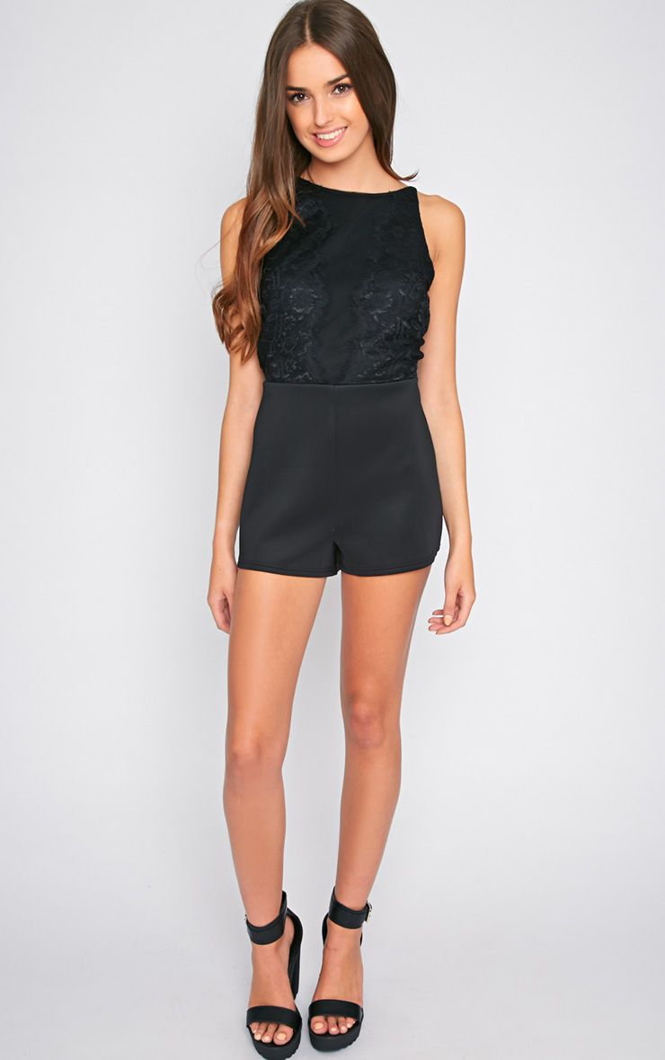 Marni Black Lace Playsuit 1
