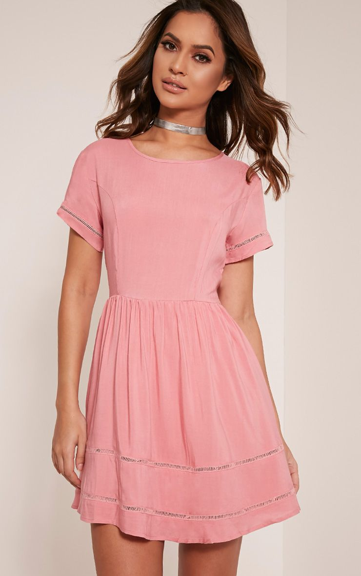 Britney Rose Ladder Trim Shift Dress 1