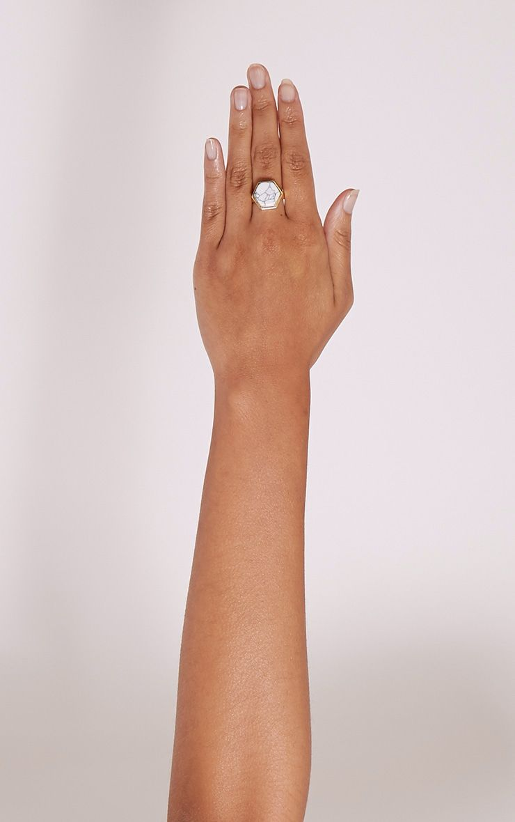 Talia Gold Statement Stone Ring 1