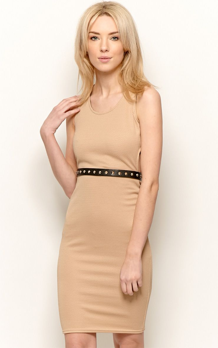 Zelia Camel Backless Midi Dress 1