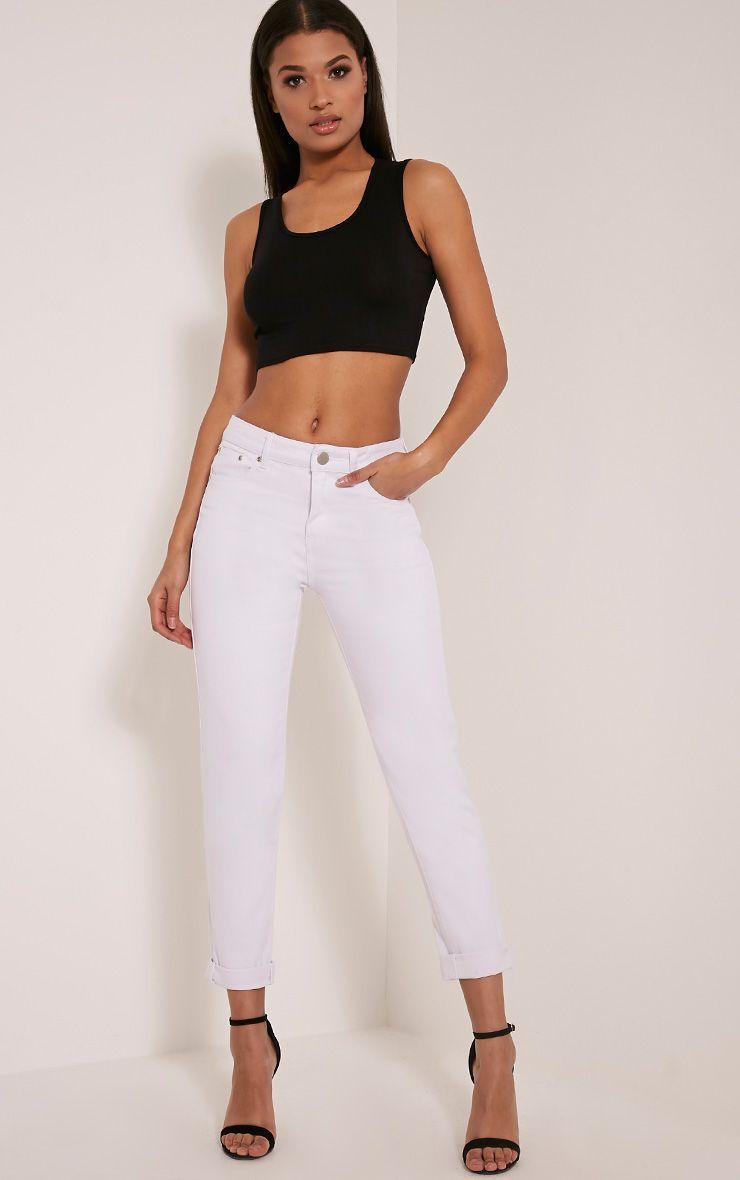 Rebel White Boyfriend Jeans 1
