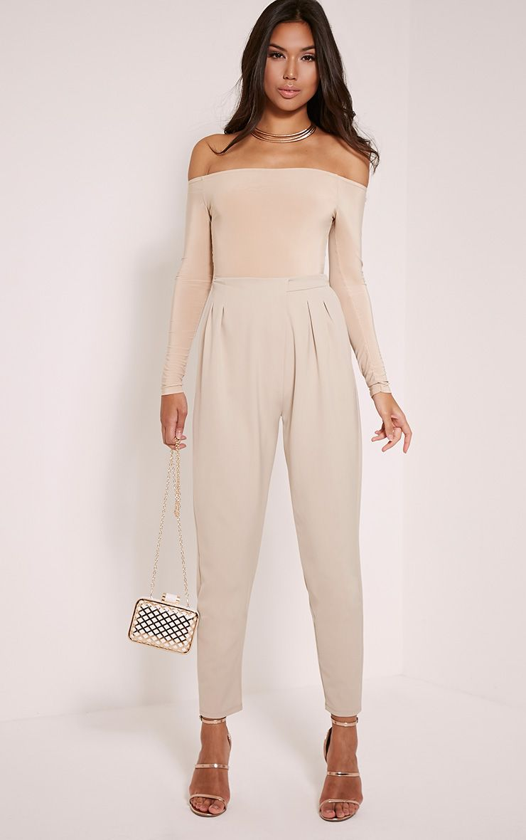 Isabella Stone Wrap Front Trousers 1