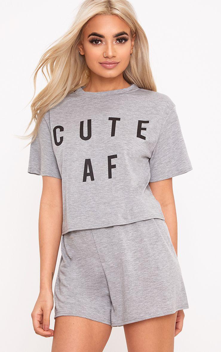 Grey Cute AF PJ Set