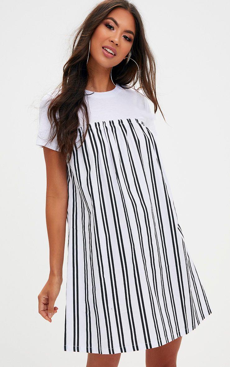 Sale Visit For Cheap Black Triple Stripe Shoulder T Shirt Dress Pretty Little Thing Cheap For Cheap Cheap Price Wholesale Discount Supply vHhzyPaQ