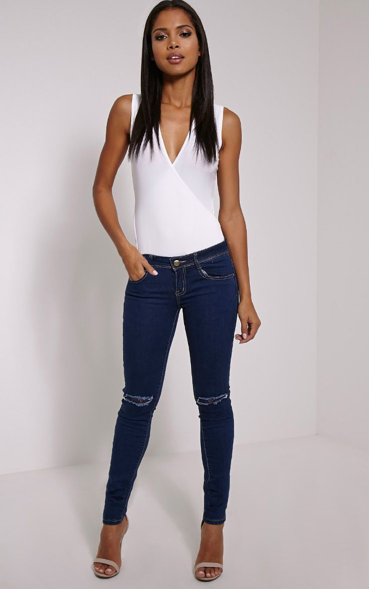 Sahara Blue Ripped Skinny Jean 1