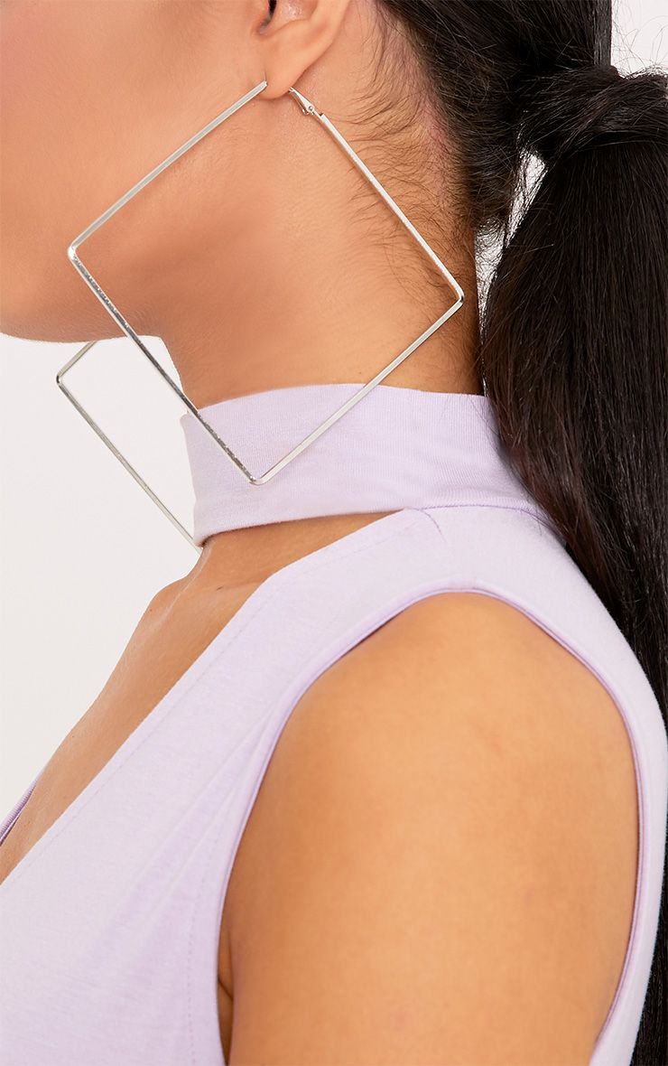 Laura Silver Square Earrings