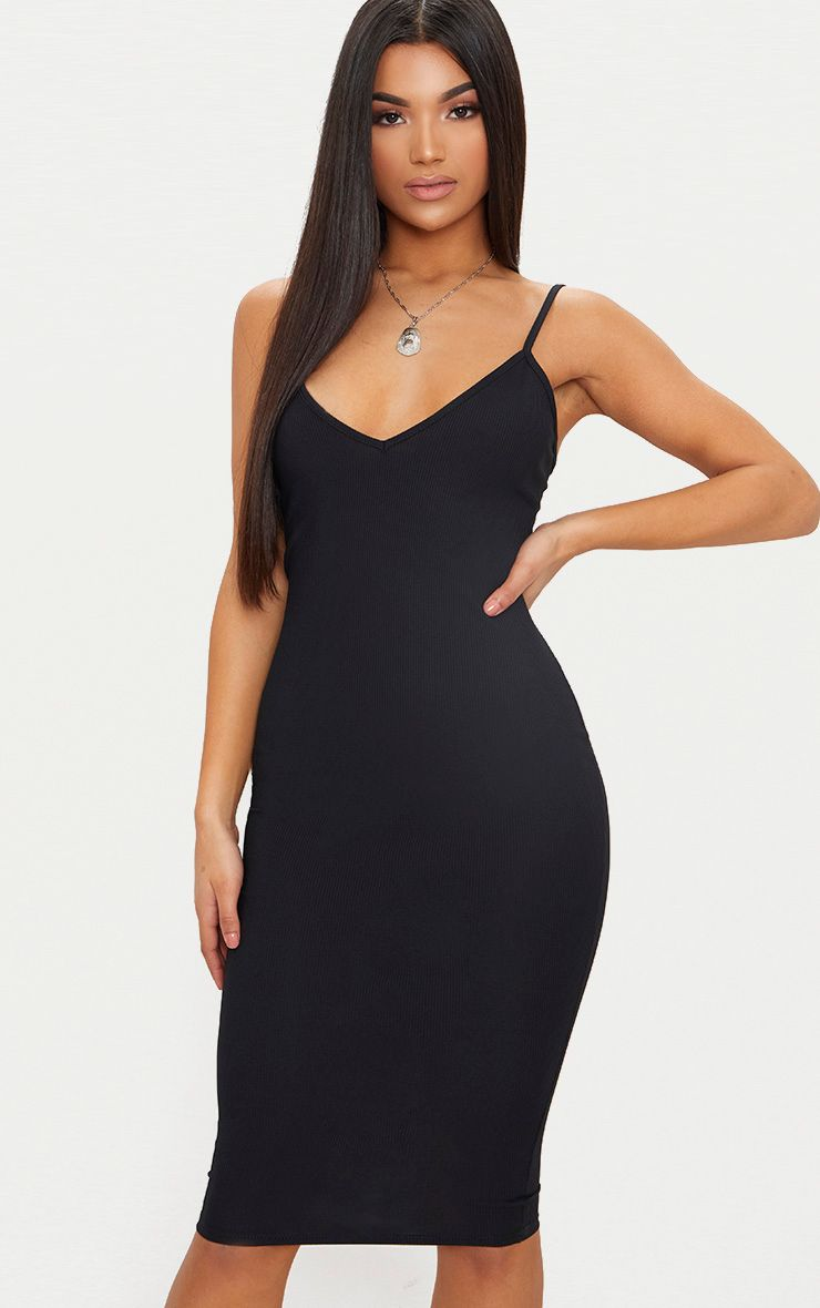 V Neck Plunge Dress