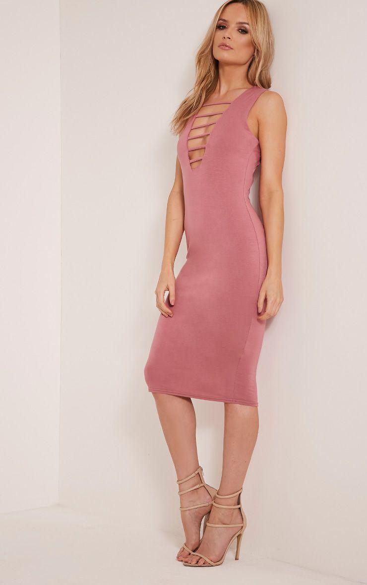 Breea Rose Strap Front Midi Dress 1
