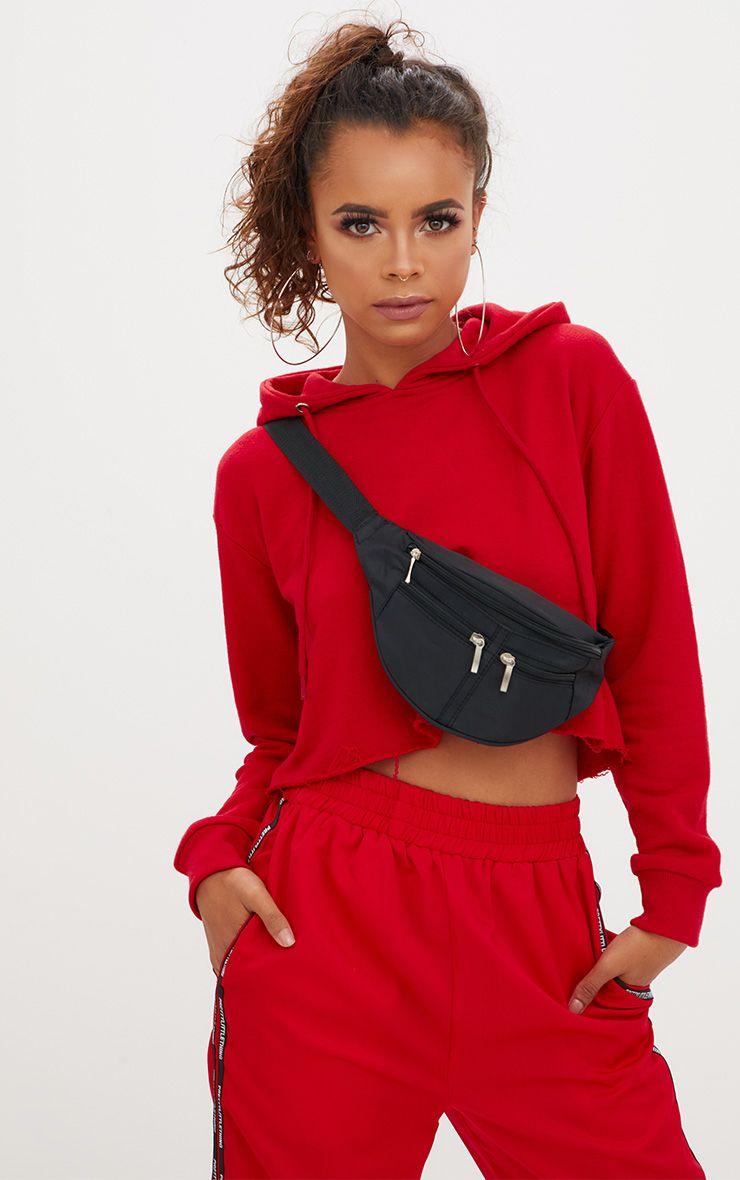 Black Pocket Bum Bag 1