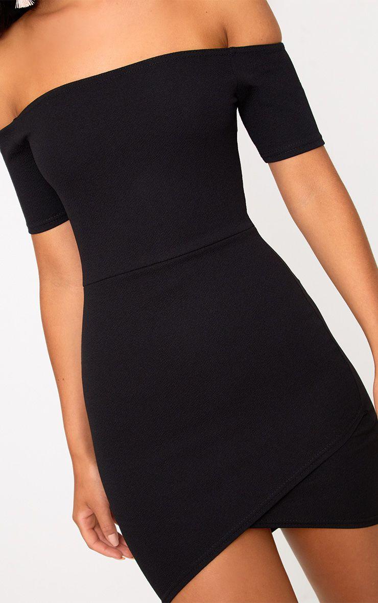robe moulante bardot et jupe portefeuille noire robes. Black Bedroom Furniture Sets. Home Design Ideas