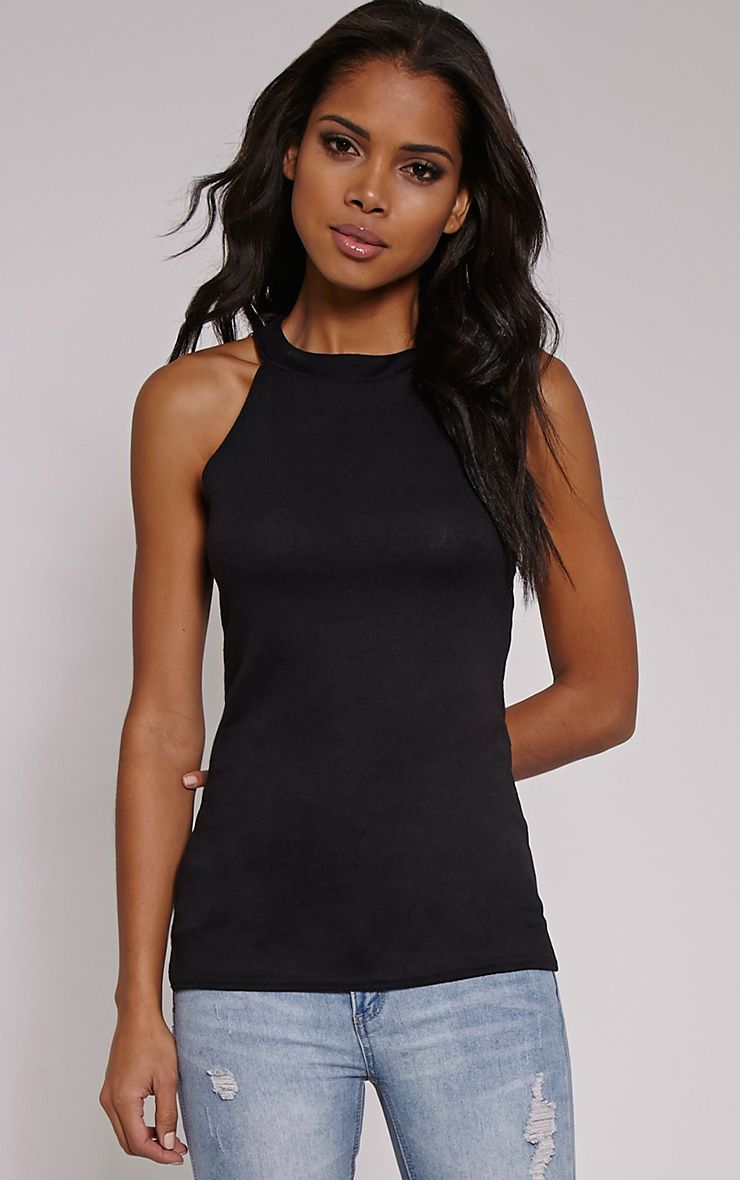 Kate Black Racer Knitted Top 1