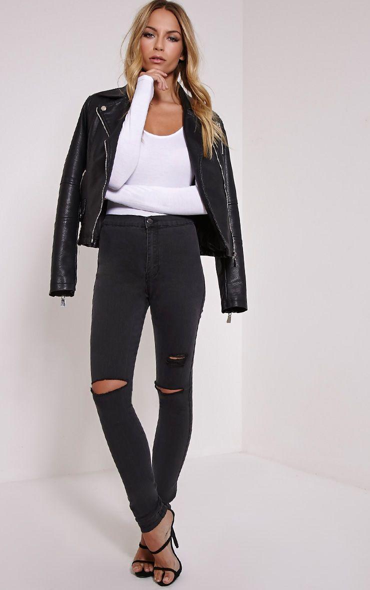 Merritt Charcoal Denim Disco Jeans 1