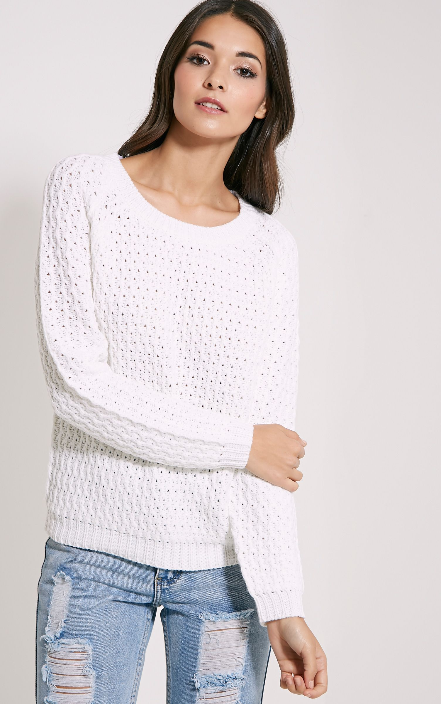 Jaylin Cream Cable Knit Jumper 1