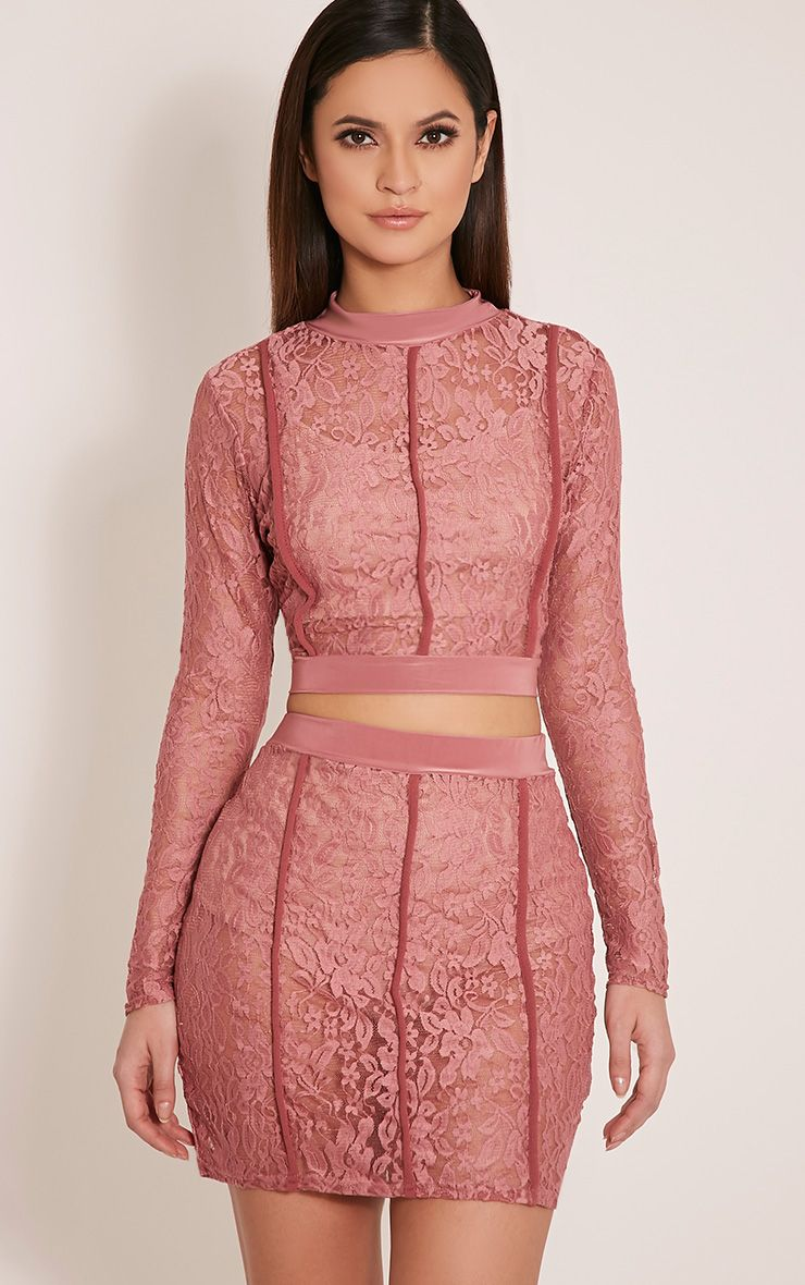 Oliviana Rose Sheer Lace Crop Top 1