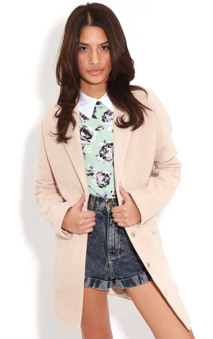 Hope Beige Oversized Boyfriend Blazer Coat  1