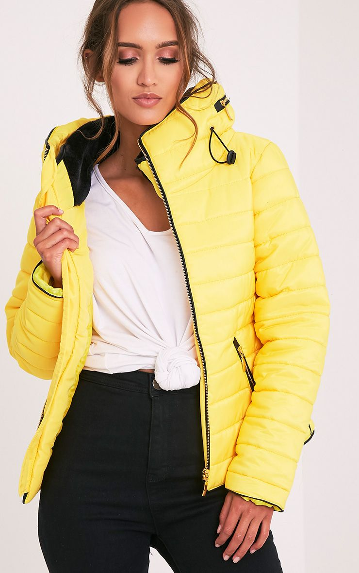 Mara Yellow Padded Jacket