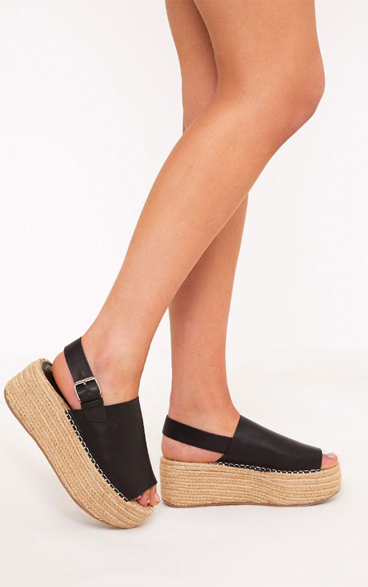 Kendyl Black Flatform Sandals