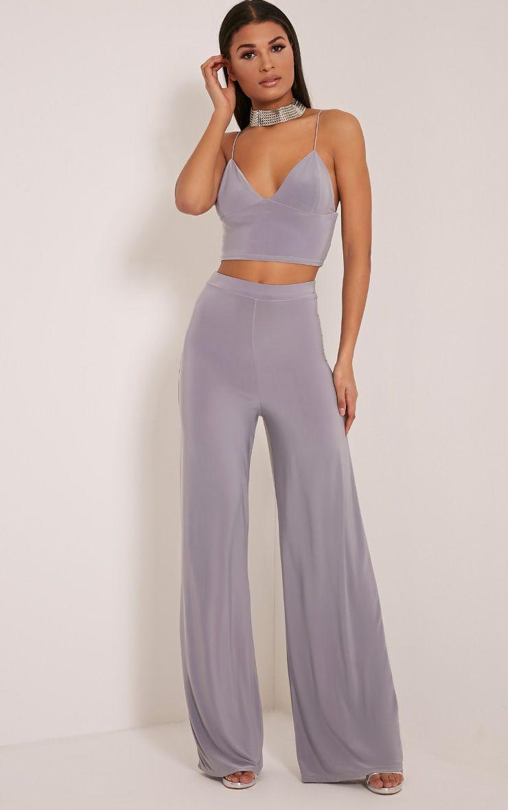 Jill Grey Slinky Palazzo Trousers