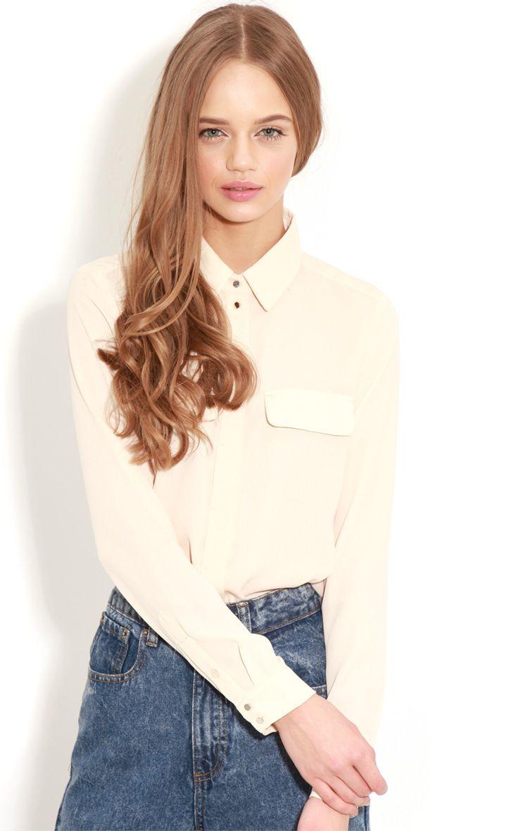 Eboni Beige Chiffon Shirt  1