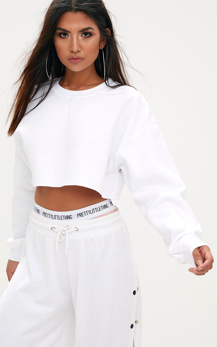 White Ultimate Cropped Sweater