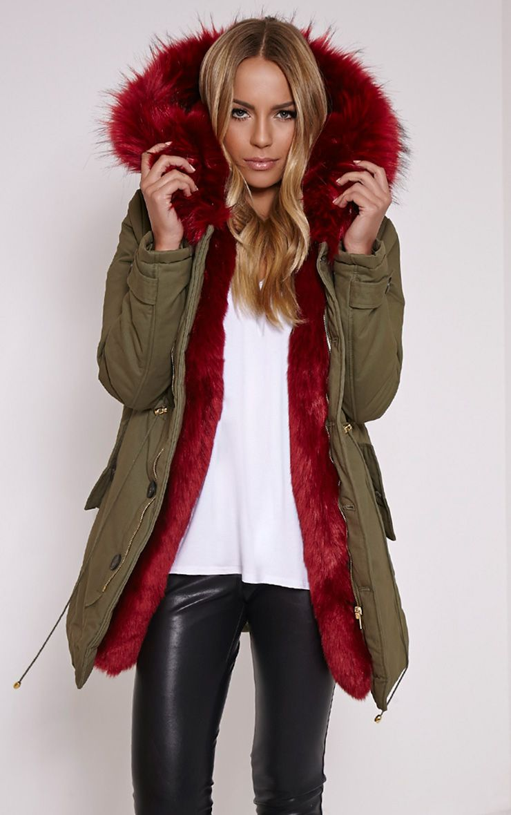 Fur lined premium parka coat