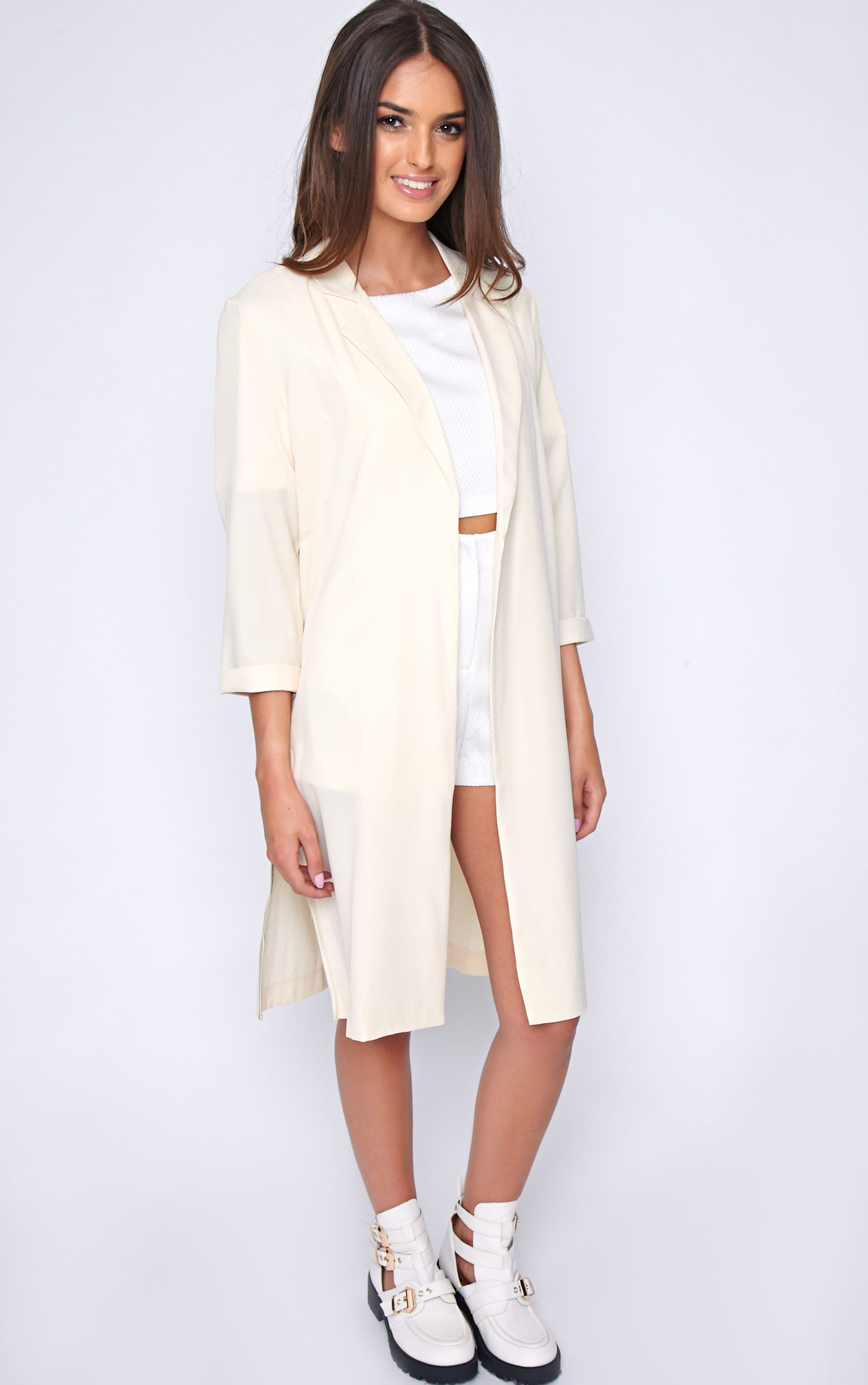Rachael Cream Duster Jacket 1