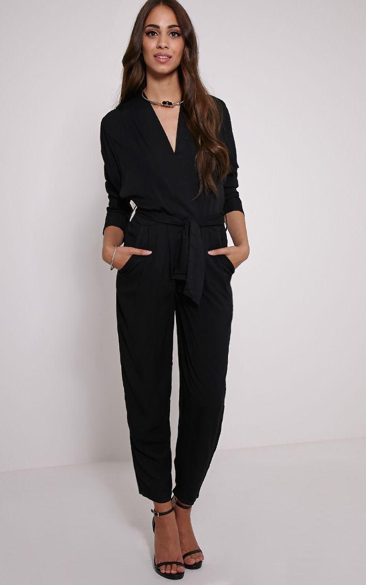 Briana Black Wrap Jumpsuit 1