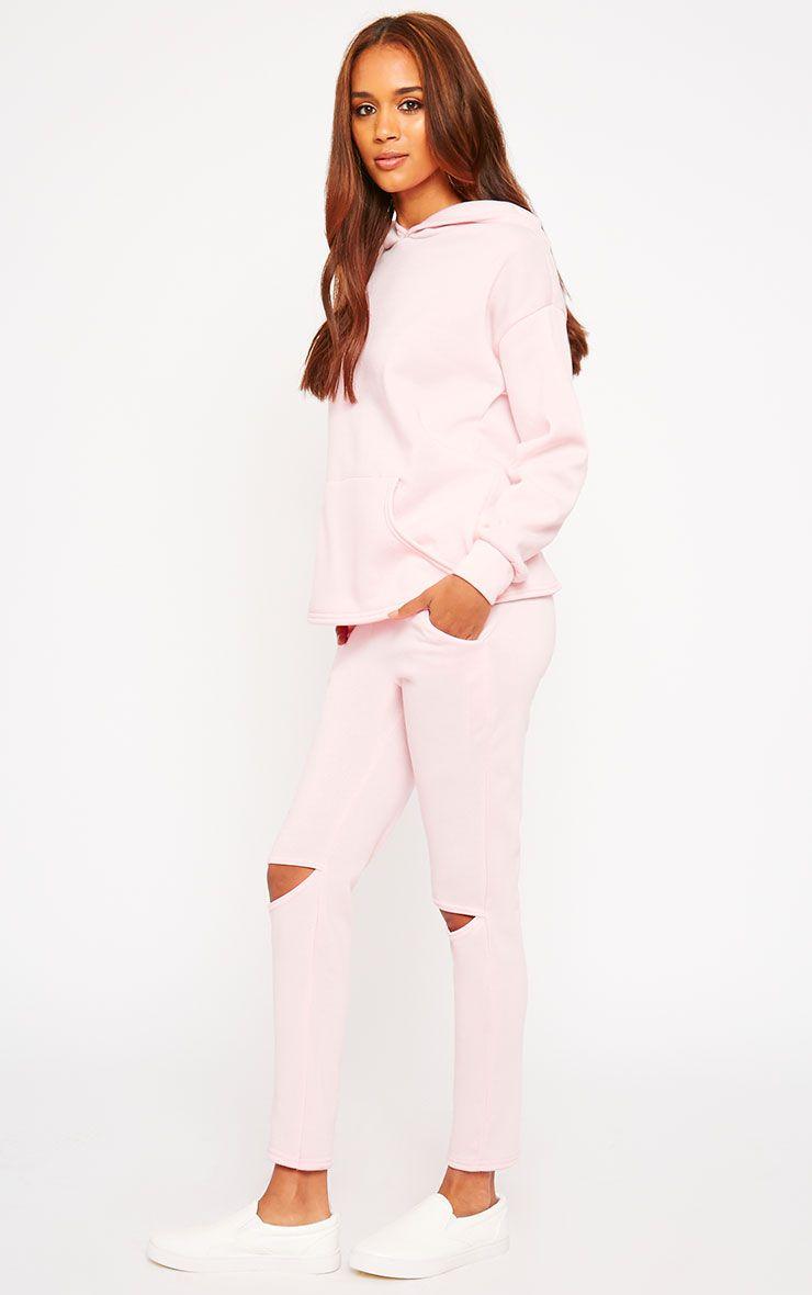 Dionne Pink Slit Knee Joggers 1