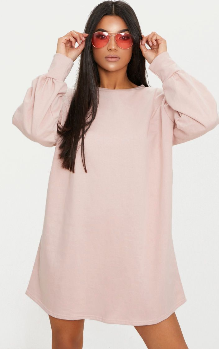 Sianna Nude Oversized Sweater Dress 1