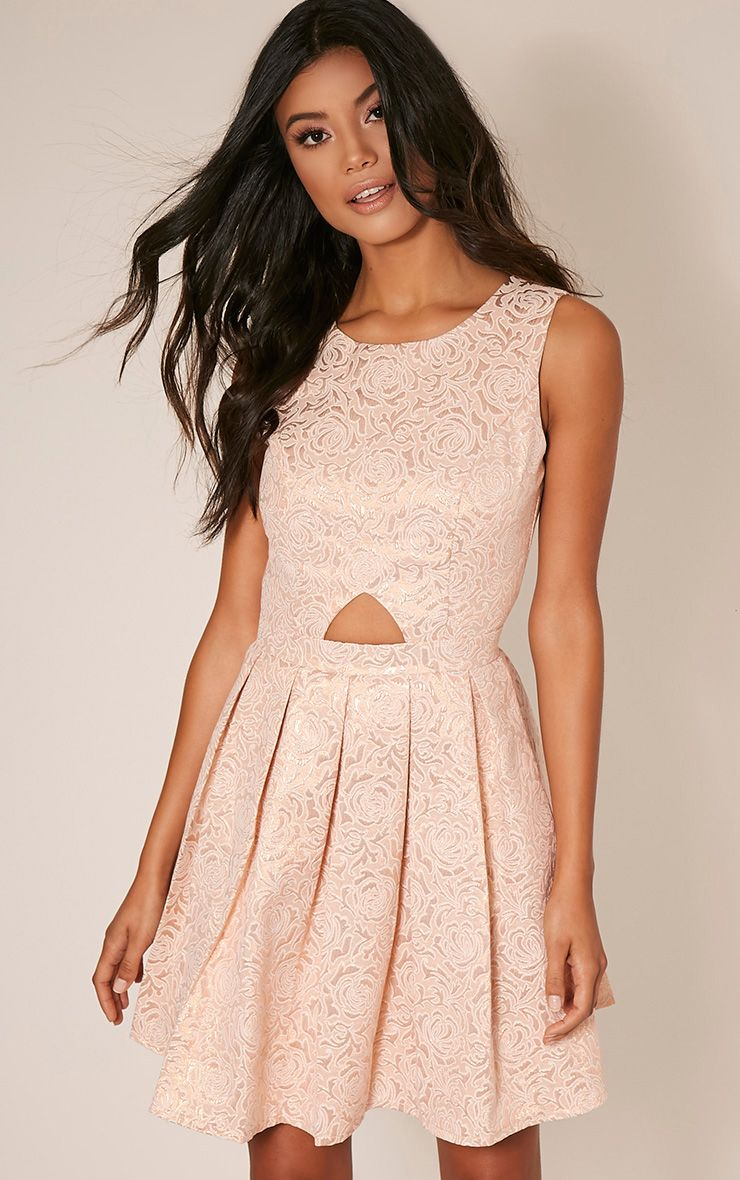 Tamzin Nude Cut Out Baroque Prom Dress 1