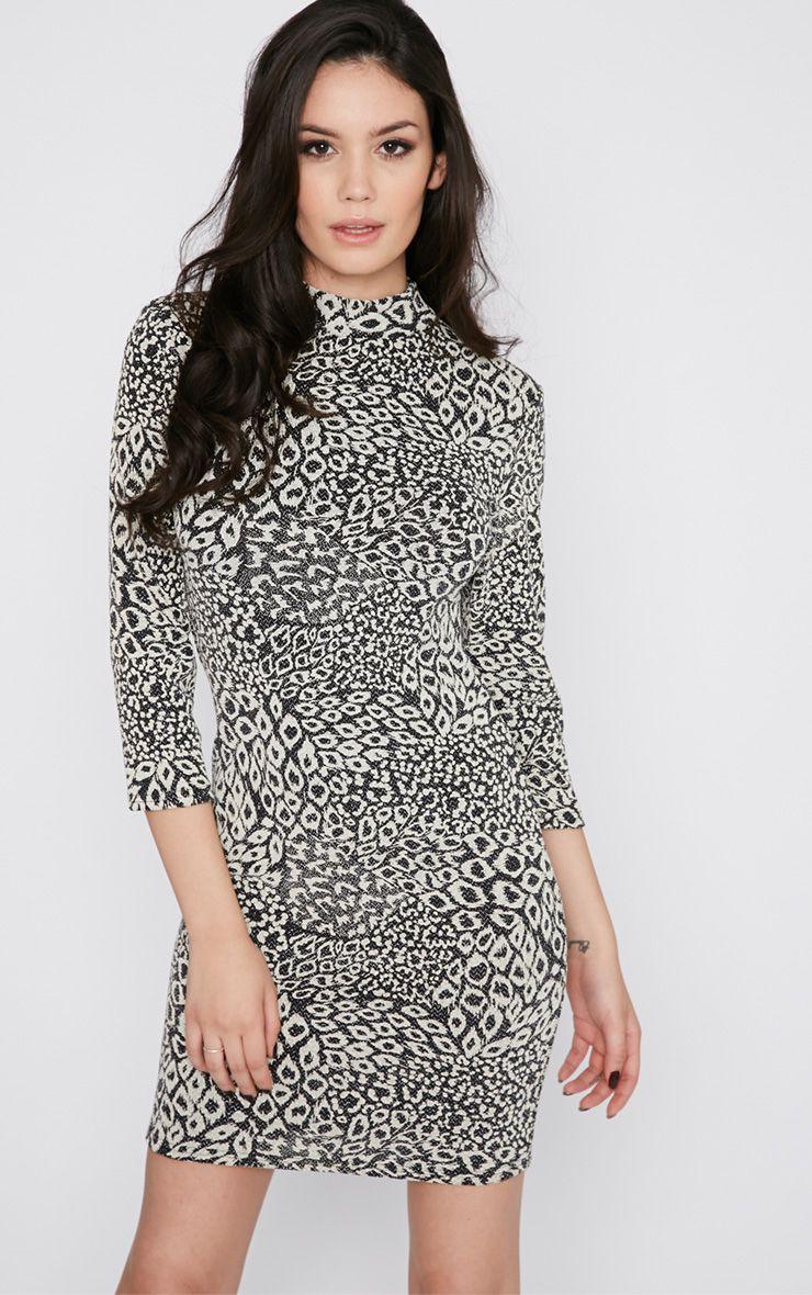Katrina Leopard Print Long Sleeve Dress 1