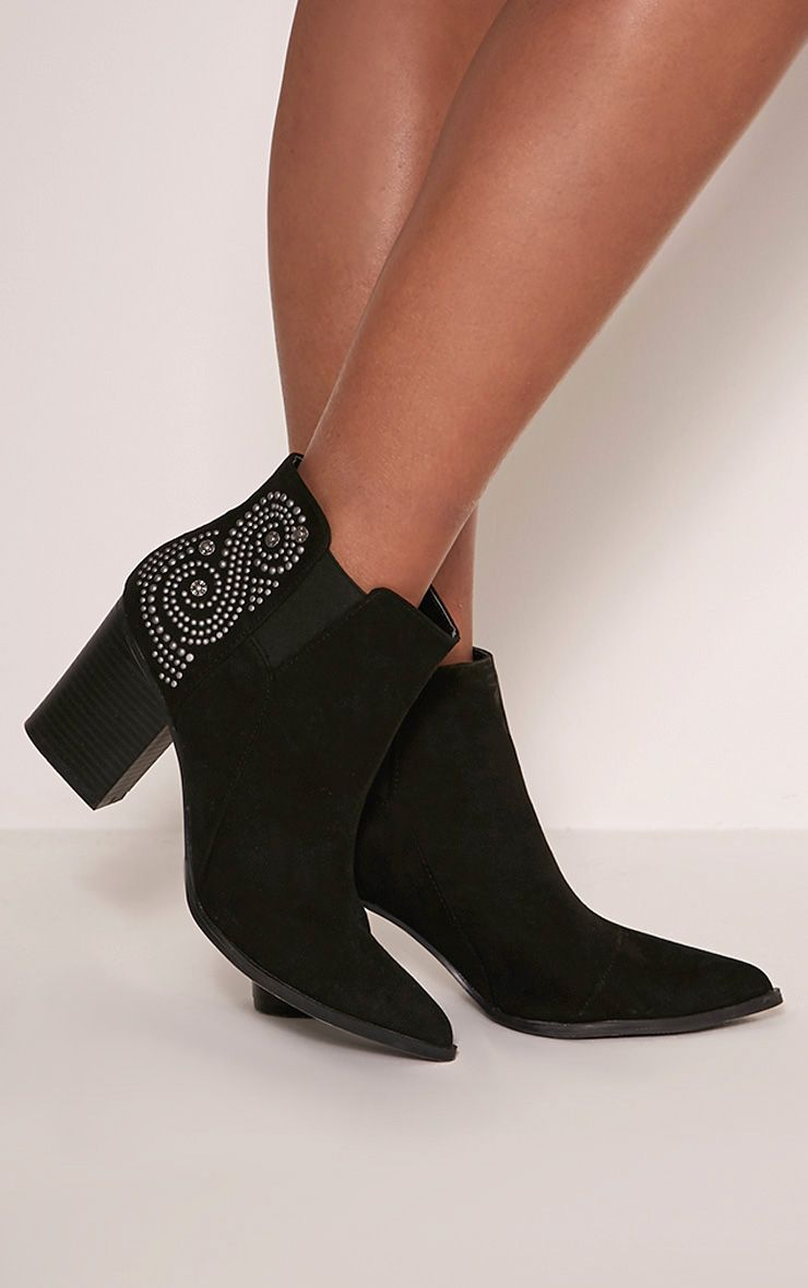 Black Faux Suede High Ankle Boot Pretty Little Thing Tr1rZIK