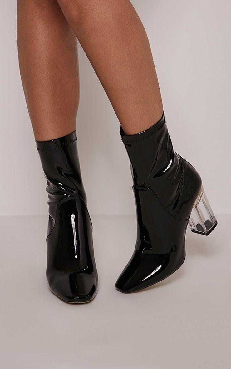 Killah Black Perspex Heel Boots 1