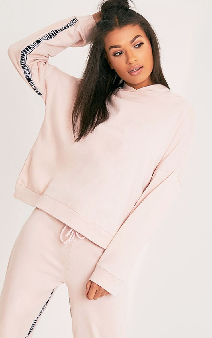 PrettyLittleThing Branded Pink Oversized Hoodie