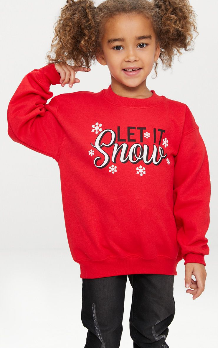 Let It Snow Red Christmas Sweat