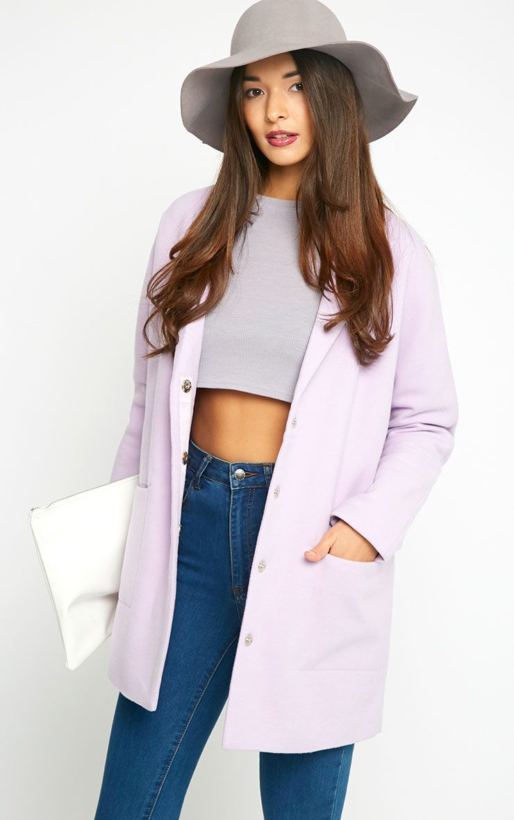 Hope Lilac Boyfriend Coat 1