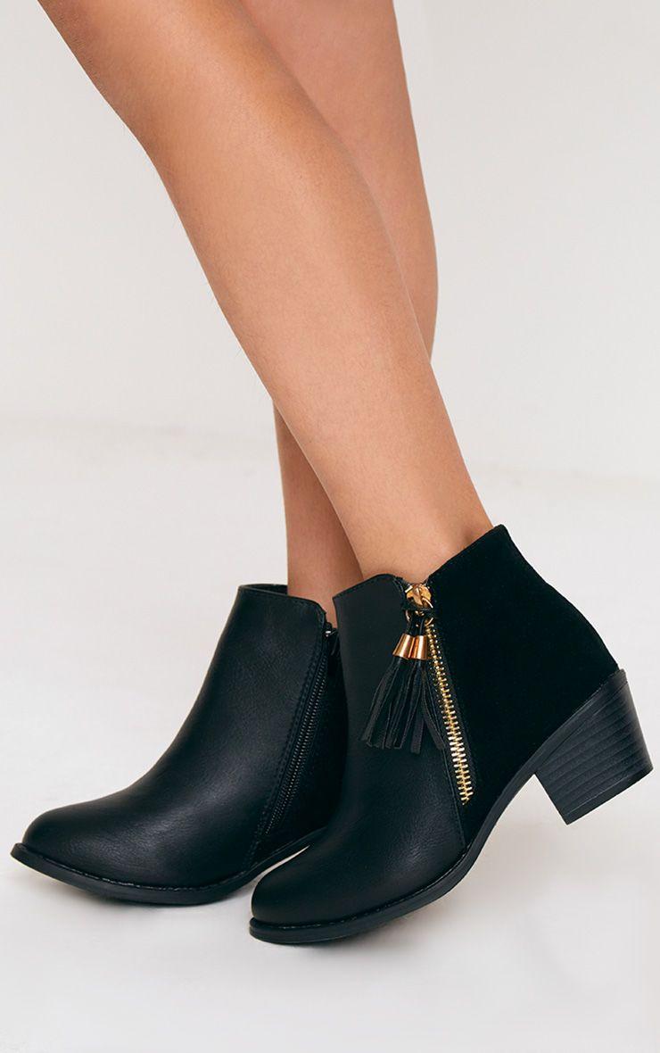 Tassel Black Boots