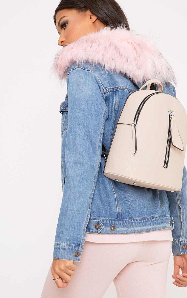 Becca Nude Zip Front Backpack