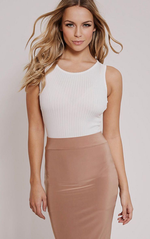 Marria Cream Ribbed Bodysuit 1