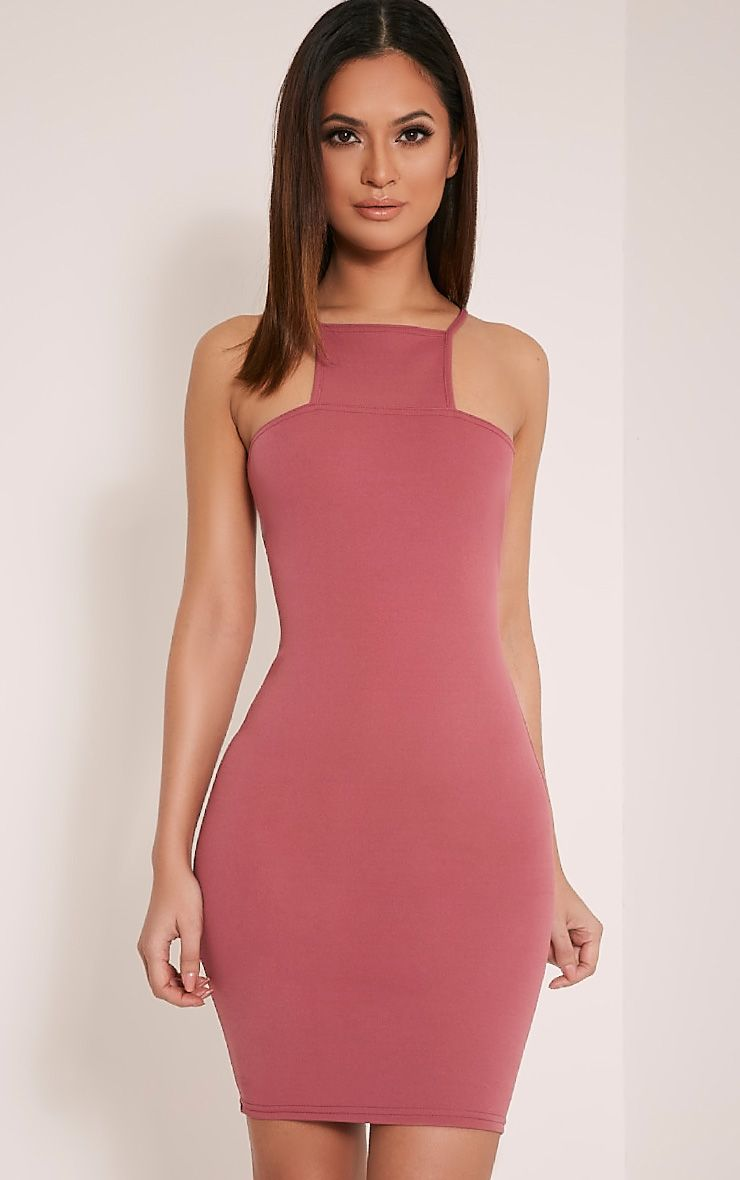 Whitley Rose Square Neck Bodycon Dress 1
