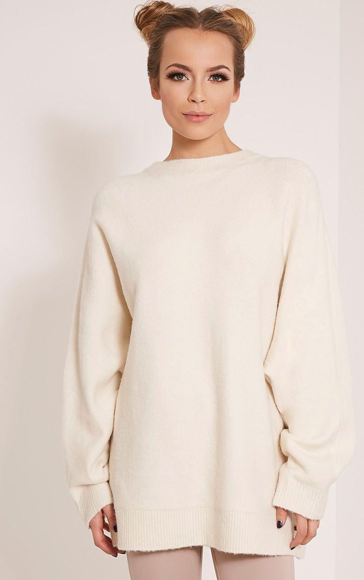 Raysa Cream Oversized Knitted Jumper