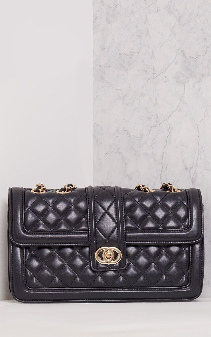 Wilney Black Quilted Bag