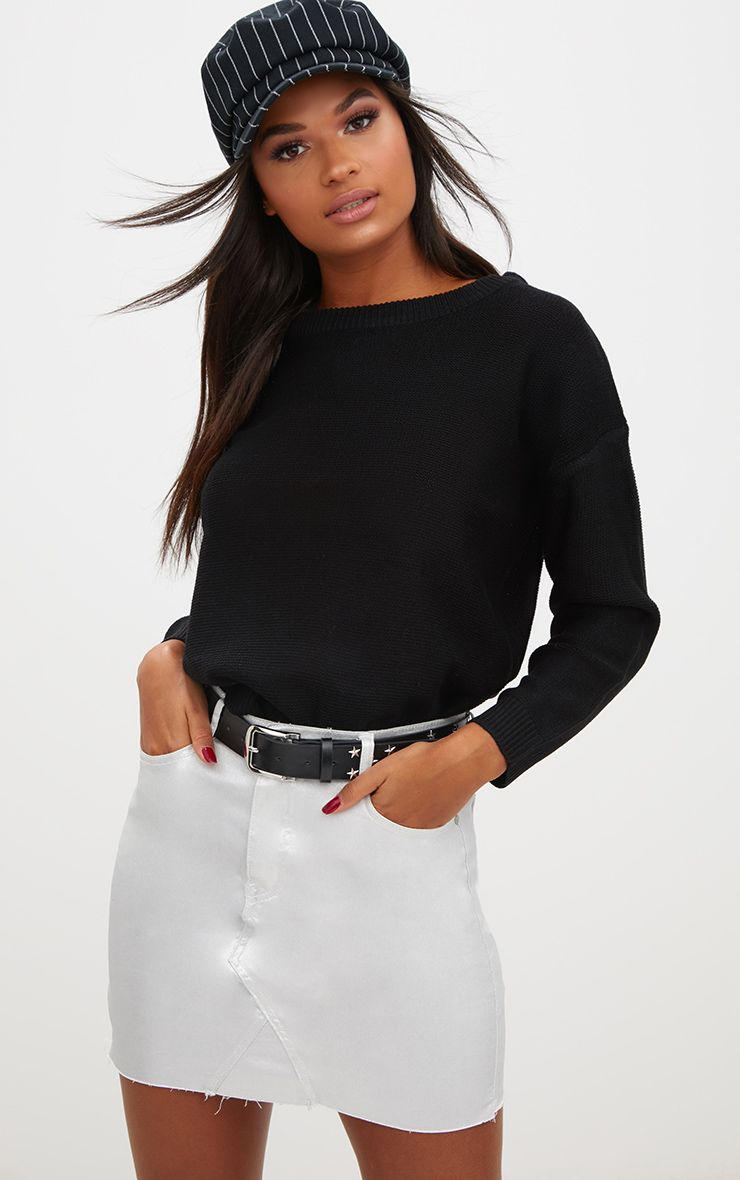 Black Boxy Basic Jumper