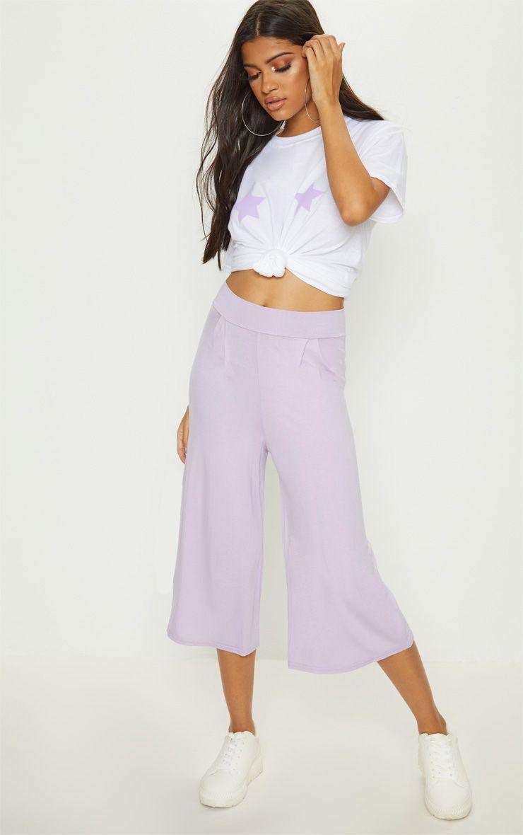 Lilac Basic Culotte