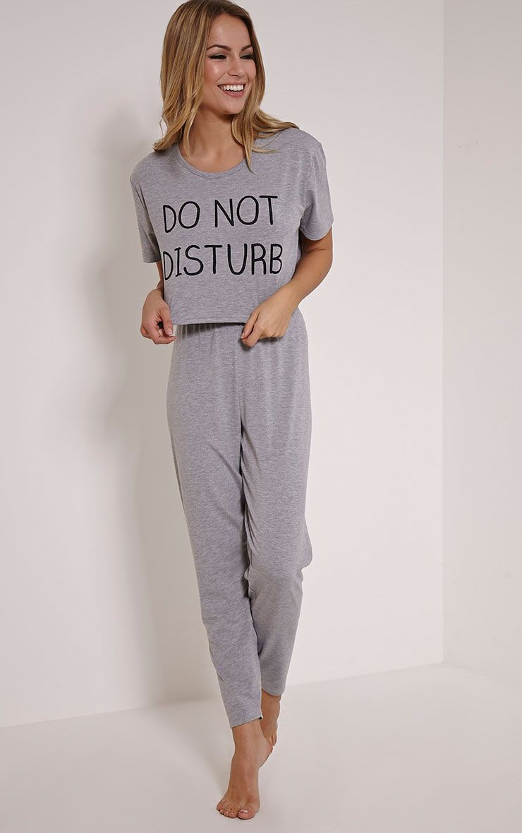Do Not Disturb Grey Pyjama Set 1