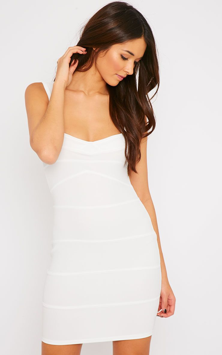 Elsa Cream Bandage Dress 1