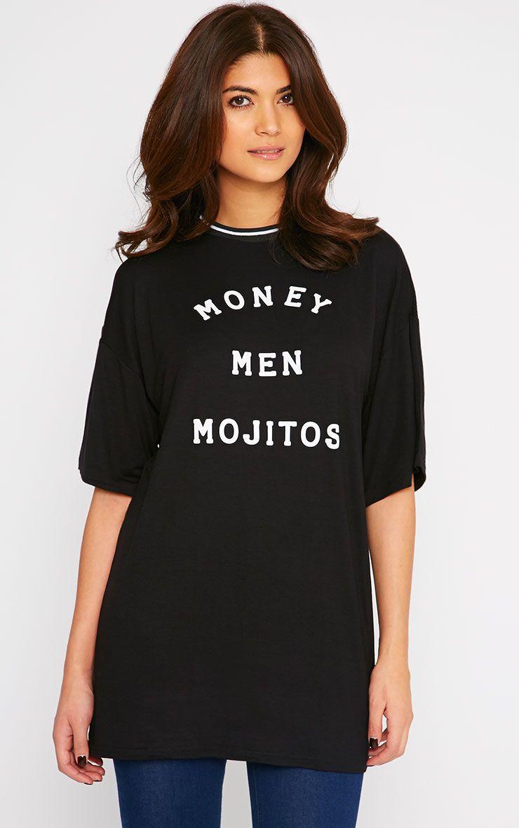 Verene Money Men Mojito Slogan T-Shirt Dress 1