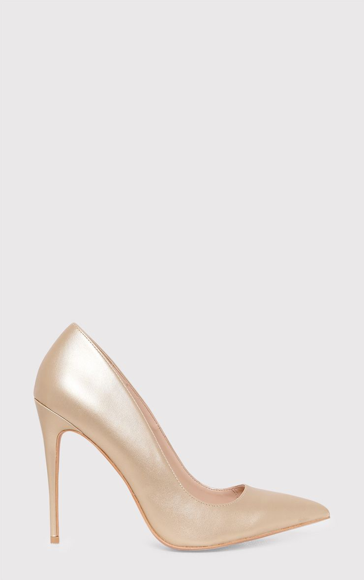 Cayleigh Gold Pointed Heels 1