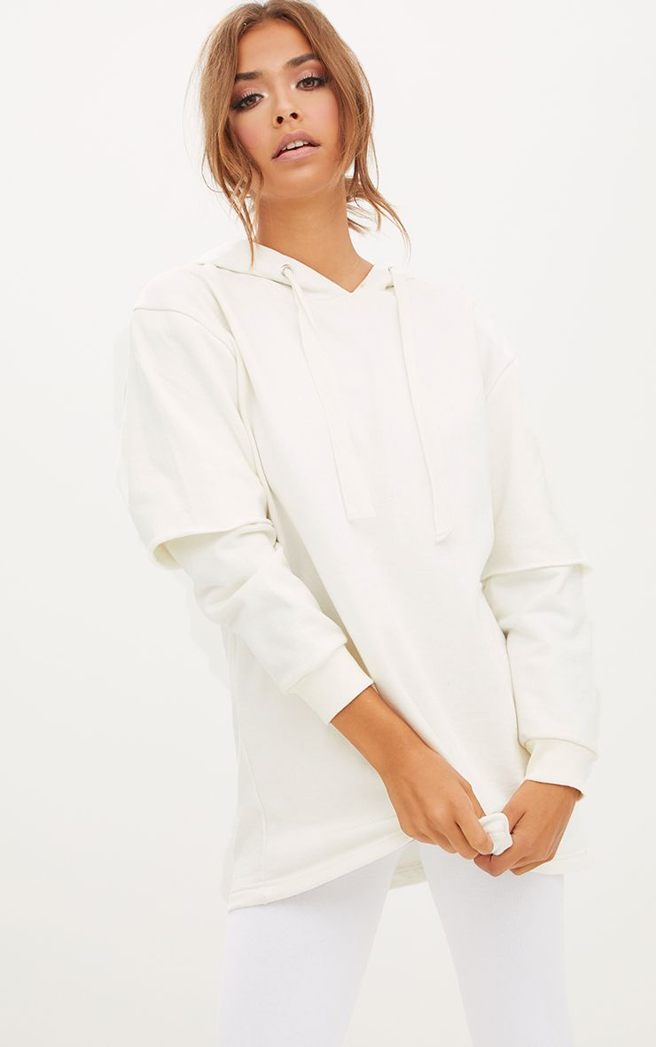 White Oversized Sweater Hoodie